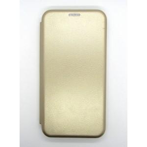 Чехол-книжка ориг кожа Samsung J400 (gold)