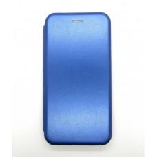 Чехол-книжка ориг кожа Huawei P40lite E/Y7 2020 (blue)