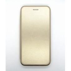 Чехол-книжка ориг кожа Huawei P40lite E/Y7 2020 (gold)