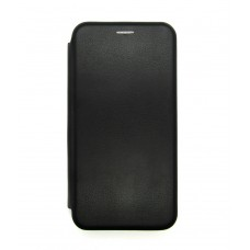 Чехол-книжка ориг кожа Huawei P40lite/Nova 6SE (black)