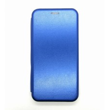 Чехол-книжка ориг кожа Huawei P40lite/Nova 6SE (blue)