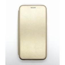 Чехол-книжка ориг кожа Huawei P40lite/Nova 6SE (gold)