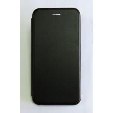 Чехол-книжка ориг кожа Huawei Y7 2019 (black)
