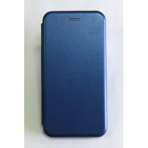 Чехол-книжка ориг кожа Huawei Y7 2019 (blue)