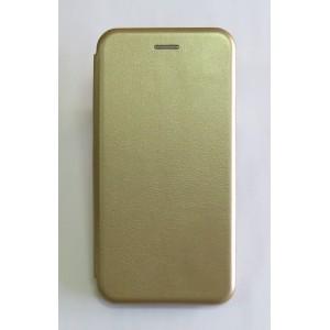 Чехол-книжка ориг кожа Huawei Y7 2019 (gold)