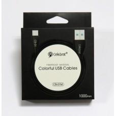 Data Cable Celebrat CB-01 micro-USB (black)