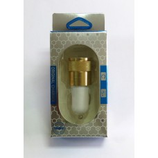 АЗУ 2 in 1 металл цветной (gold)
