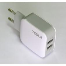 СЗУ блочек Tesla + кабель (white)
