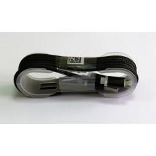 Data Cable micro-USB ткань армированный катушка (black)