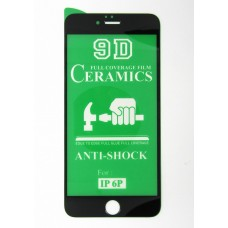 Стекло Ceramics iPhone 6+ 9D (black)