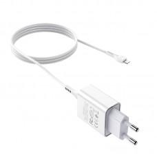 СЗУ блочек+кабель iPhone Hoco C81A оригинал (white)