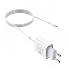 СЗУ блочек+кабель micro-USB Hoco C81A оригинал (white)