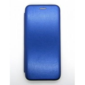Чехол-книжка ориг кожа Xiaomi Redmi 7 (blue)
