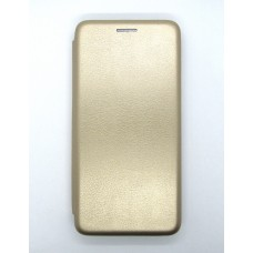 Чехол-книжка ориг кожа Huawei P30 Lite (gold)
