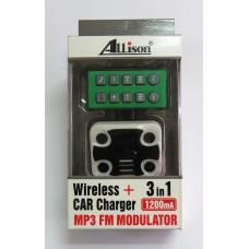 FM-модулятор ALLISON 3 in1 A664 (black-white)