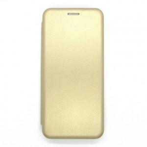 Чехол-книжка ориг кожа Samsung A22 (gold)