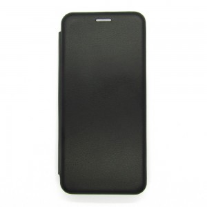 Чехол-книжка ориг кожа Xiaomi Redmi Note 10 (black)