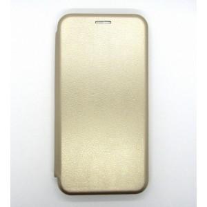 Чехол-книжка ориг кожа Samsung A10 (gold)