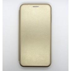 Чехол-книжка ориг кожа Samsung M10 (gold)