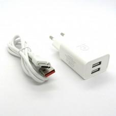СЗУ WUW T38 блочек+кабель Type-C (white)