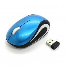 Мышка беспроводная Wireless Mouse mini (blue-white)