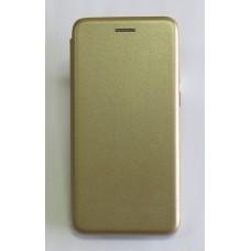 Чехол-книжка ориг кожа Meizu Note8 (gold)