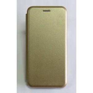 Чехол-книжка ориг кожа Xiaomi Redmi 6A (gold)