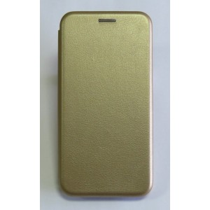 Чехол-книжка ориг кожа Samsung J3 2016 (gold)
