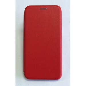 Чехол-книжка ориг кожа Samsung J3 2016 (red)