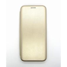 Чехол-книжка ориг кожа Samsung A31 (gold)