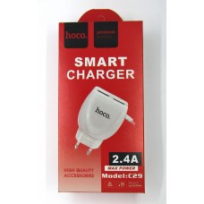 СЗУ hoco smart charger 2.4A C29 (white)
