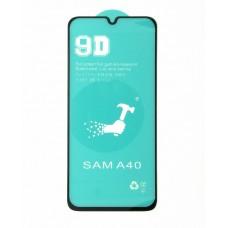 Стекло Ceramics Samsung A40 9D (black)