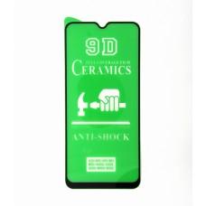 Стекло Ceramics Samsung A20/A30/A50/M30 9D (black)