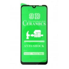 Стекло Ceramics Xiaomi Redmi Note 7 PRO 9D (black)