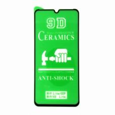 Стекло Ceramics Xiaomi Mi 9 Lite 9D (black)