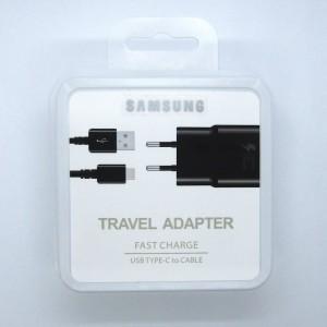 СЗУ блочек Samsung S8 ориг+кабель EP-TA300 type-c (white)
