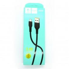 Data cable Denmen D06V micro-USB (black)