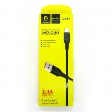 Data cable Denmen D01T Type-C (black)