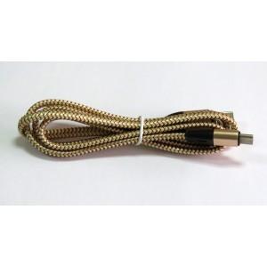Data Cable TYPE-C NEW ткань плетенный (gold)