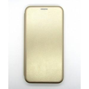 Чехол-книжка ориг кожа Huawei Y3 2018 (gold)