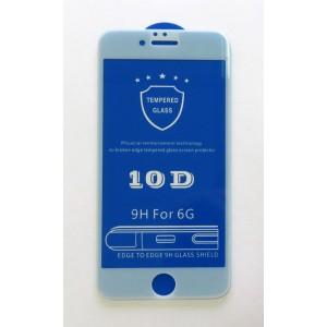 Стекло iPhone 6 10D (white)