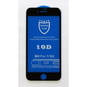 Стекло iPhone 7/8 10D (black)