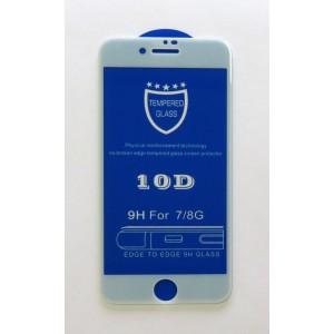 Стекло iPhone 7/8 10D (white)