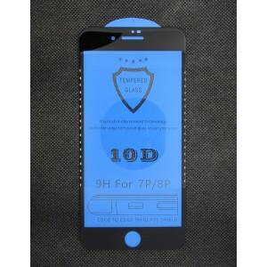 Стекло iPhone 7/8+ 10D (black)