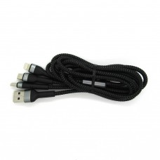 Data cable Allison 3 in1 ALS-C64 (black))