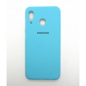 Silicone Case copy Samsung A30 (blue)