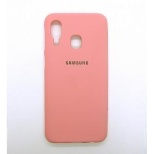 Silicone Case copy Samsung A40 (pink)