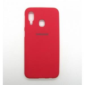 Silicone Case copy Samsung A40 (red)