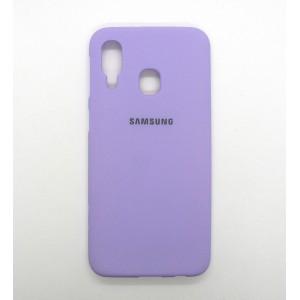 Silicone Case copy Samsung A40 (violet)