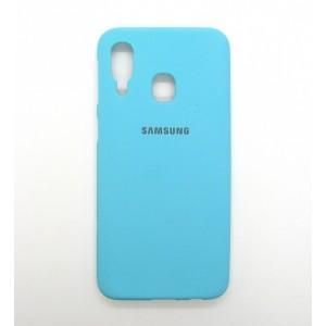 Silicone Case copy Samsung A40 (blue)